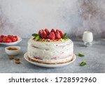 Homemade Cake With Strawberries ...