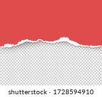 realistic vector torn a half... | Shutterstock .eps vector #1728594910