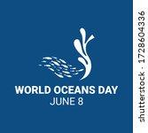 world ocean day campaign.... | Shutterstock .eps vector #1728604336