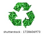recycling symbol made of...   Shutterstock . vector #1728606973