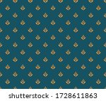 vector floral damask seamless... | Shutterstock .eps vector #1728611863