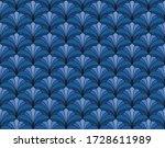 elegant damask floral vector...   Shutterstock .eps vector #1728611989
