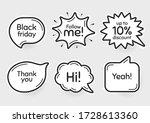 comic chat bubbles. black...   Shutterstock .eps vector #1728613360