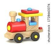 Wooden Train Locomotive 3d...