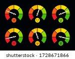 speedometer  barometer  fuel... | Shutterstock .eps vector #1728671866