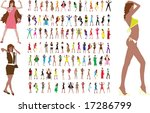 new fashion collection of girls ... | Shutterstock .eps vector #17286799
