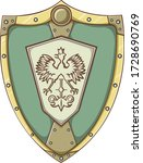 royalty vector shield with... | Shutterstock .eps vector #1728690769