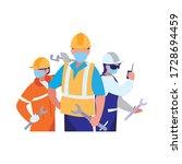 industrial workers men working... | Shutterstock .eps vector #1728694459