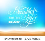 beach and tropical sea. vector... | Shutterstock .eps vector #172870838