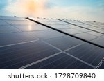 Solar Panels And Blue Sky...