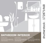 bathroom interior vector... | Shutterstock .eps vector #172871468