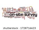 on site survey word cloud... | Shutterstock . vector #1728716623