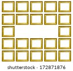 gold picture frame isolated on... | Shutterstock . vector #172871876