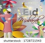 vector illustration of greeting ... | Shutterstock .eps vector #1728721543