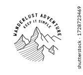 vintage simple camp logo design.... | Shutterstock .eps vector #1728723469