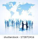 global business vector | Shutterstock .eps vector #172872416