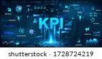 kpi futuristic banner in hud... | Shutterstock .eps vector #1728724219