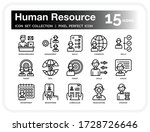 human resource icons set. ui...