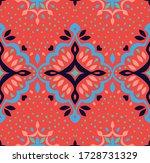 oriental vector damask pattern. ... | Shutterstock .eps vector #1728731329
