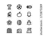 Set Of Twelve Modern Graphic...