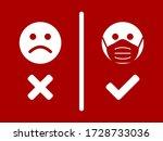 no face mask  no entry sign... | Shutterstock .eps vector #1728733036