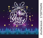 happy new year 2021 with... | Shutterstock .eps vector #1728754696