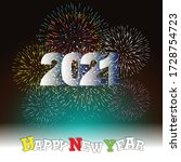 happy new year 2021 with... | Shutterstock .eps vector #1728754723