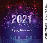 happy new year 2021 with...   Shutterstock .eps vector #1728765163