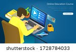 online education course study... | Shutterstock .eps vector #1728784033