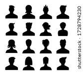 human avatar icons set... | Shutterstock .eps vector #1728794230