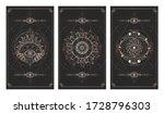 vector set of three dark... | Shutterstock .eps vector #1728796303