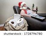 Quarantine santa claus sleeping ...