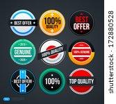 set of 9 different badges for... | Shutterstock .eps vector #172880528