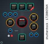 organization chart template... | Shutterstock .eps vector #172880564