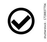 checkmark black vector isolated ...