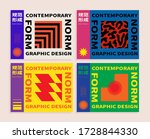 cd cover vector template with... | Shutterstock .eps vector #1728844330
