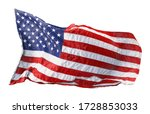 american flag waving in the... | Shutterstock . vector #1728853033