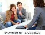 couple meeting financial... | Shutterstock . vector #172885628