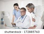 medical team discussing around... | Shutterstock . vector #172885763
