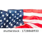 Usa Flag Background With...