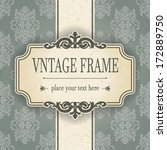 vintage frame | Shutterstock .eps vector #172889750