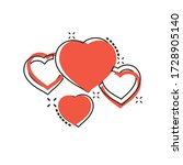 heart icon in comic style. love ...
