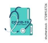 medical report coronavirus... | Shutterstock .eps vector #1728913726