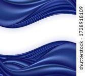 blue satin wave background.... | Shutterstock .eps vector #1728918109