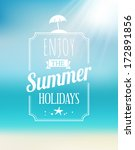 summer greeting card with the... | Shutterstock .eps vector #172891856