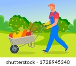 Farmer Wearing In Overalls...