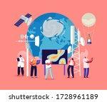 meteorology concept. tiny male... | Shutterstock .eps vector #1728961189