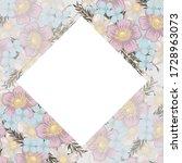 floral border background   pink ...   Shutterstock .eps vector #1728963073