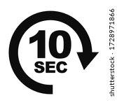 ten seconds waiting timer...   Shutterstock .eps vector #1728971866