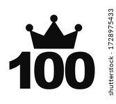 number one hundred  100  black... | Shutterstock .eps vector #1728975433